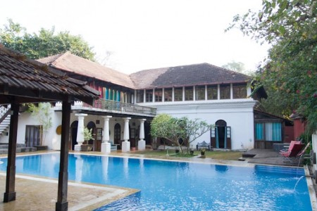 Portuguese villa with 6 private bedrooms in Moira, Goa- Pool view
